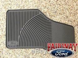 06 07 08 09 10 Super Duty F250 F350 OEM Ford Rubber Floor Mat 3-pc Crew Cab