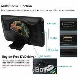 10.1'' Car Headrest Monitor DVD Player USB/SD/HDMI/FM/Game TFT LCD Touch Screen