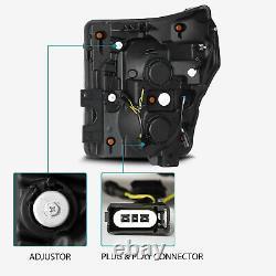 11-16 F250/F350/F450 Super Duty (4th Gen Look) Projector Headlights Jet Black