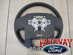 13 thru 16 Super Duty F250 F350 OEM Ford Black Leather Steering Wheel with Cruise