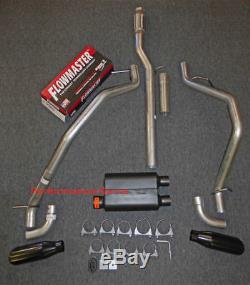 14-18 Chevrolet Silverado GMC Sierra Dual Exhaust Kit with Flowmaster Super 44