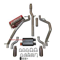 14-19 Chevrolet Silverado GMC Sierra Dual Exhaust Kit with Flowmaster Super 44