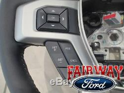 17 thru 20 Super Duty F250 F350 OEM Ford Black Leather Steering Wheel with Cruise