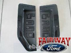 17 thru 22 Super Duty F-350 Lariat Sport Package Black Fender Emblems Pair of 2