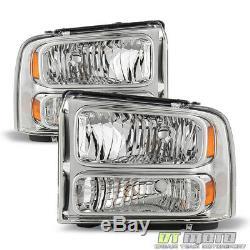 2005-2007 Ford F250 F350 F450 F550 Super duty Headlights Left+Right 05 06 07