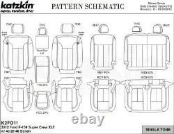 2013 2014 Ford F-150 XLT Super Crew KATZKIN Leather Seat Covers Replacement Kit