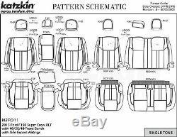 2015 2016 2017 2018 Ford F-150 XLT Super Crew Katzkin Leather Seat Lariat Design