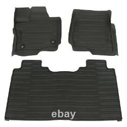 2015-2020 Ford F-150 Super Crew Cab All Weather Rubber Floor Mats Black OEM NEW