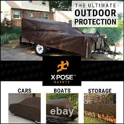 20' x 30' Super Heavy Duty 16 Mil Brown Poly Tarp Cover Thick Waterproof