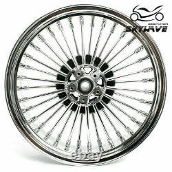 21 18 Front Rear Cast Wheels Dual Disc Fat Spokes Softail Road King Sportster