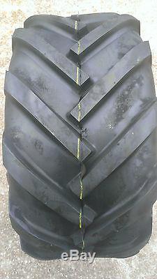 2 23X10.50-12 Deestone D405 4P Super Lug Tires AG DS5245 23x10.5-12