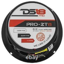 2 DS18 PRO-ZT6 6.5 2 Way Midrange Loud Speaker 900W 4 ohm with Super Tweeter