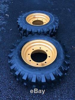 2 NEW 12-16.5 Tires/Wheels/Rim for 4X4 Case 580 Backhoe-Super M & L 4WD-119243A1