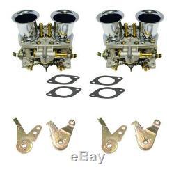 2 X New Carb Carburetors Engine 2 Barrel For VW Super Beetle Fiat WEBER 40 IDF