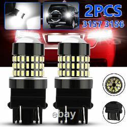 2x 3157 3156 Super Bright 78SMD LED Reverse Backup Light Bulbs 6000K Xenon White