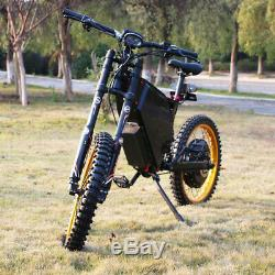 5000with72v Electric Bicycle Scooter Ebike Mountain Bike Super Fast 85km/h