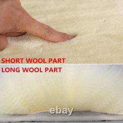 5Pcs Furry Genuine Australian Sheepskin Fur Car Seat Covers Interior Accessories