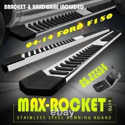 6 Fit 04-14 Ford F150 Super Crew Cab Running Board Side Step Nerf Bar Chrome V
