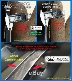99-07 F-250 / F-350 Super Duty POCKET RIVET Bolt-on KING FENDER FLARES smooth