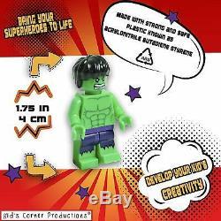 9 x MARVEL LEGO AVENGERS SUPER HEROES MINI FIGURES Superman Iron HULK minifigure