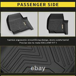 All Weather Floor Mats Liners for 17-21 Ford F-250 F350 F450 Super Duty Crew Cab