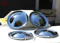 Baby Moon 15 Hollywood Style Hub Cap Wheel Cover Hot Rat Rod Lead Sled Set of 4
