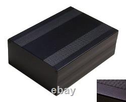 Black Aluminum Project Box Enclosure Case Electronic DIY 203x144x68mm Big