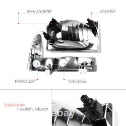 Black Housing Headlight Amber Corner Signal for 99-04 Ford F250/F350 Super Duty