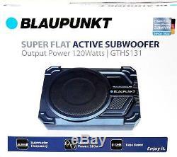Blaupunkt Gths131 200w 8 Car Under Seat Super Slim Powered Subwoofer Enclosed