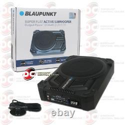 Blaupunkt Super Flat Under Seat Slim Powered Car Subwoofer Enclosed 200w Max