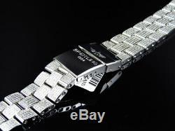 Brand New Mens Breitling Super Avenger Diamond Band with 7 Ct Custom Set
