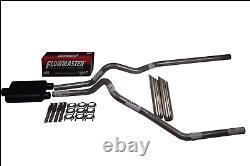 Chevy Silverado GMC Sierra 15-18 2.5 Dual exhaust Flowmaster Super 44 weld tips