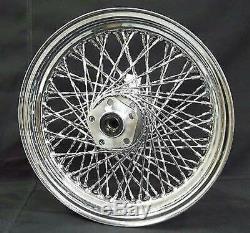 Chrome 16 X 3 80 Twisted Spoke Rear Wheel Rim Harley Softail Dyna Sportster FXR