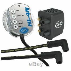 Crane S&S HI-4N Multi Function Single Fire Coil Ignition Kit HD Shovelhead & Evo