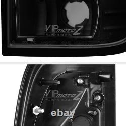DARKEST Black Smoke For 97-03 F150 F250 Superduty NEON TUBE LED Tail Light