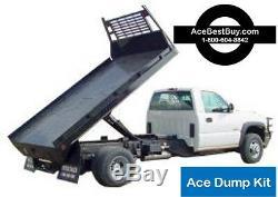 FLATBED Dump Bed Hoist Kit. Turn pickup dump truck. 15,000 lbs. Easy install