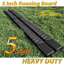 Fit 04-08 FORD F150 Super Crew Cab 5 Black Running Board Nerf Bar Side Step H