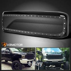 Fit 1999-2004 Ford F250 F350 Super Duty Mesh Rivet Bumper Hood Grille with Shell