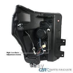 Fit Ford 11-16 F250 F350 F450 F550 Super Duty Clear LED Bar Projector Headlights