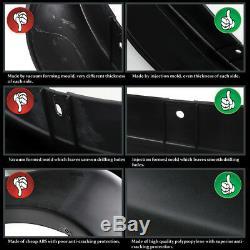 Fit Ford 99-07 F250 F350 Super Duty 4PC Pocket Rivet Style Fender Flares Black
