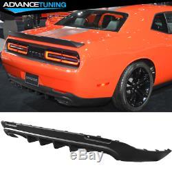 Fits 15-18 Dodge Challenger IKON Style PP Rear Diffuser Super Design