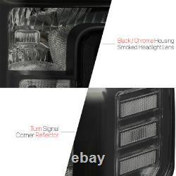 Fits 2017-2019 Ford F250/F350 Super Duty SDBlack/SmokeCrystal Corner Headlight