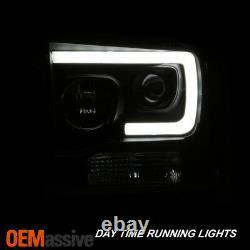 Fits Black 2005-2007 Ford F250/350/450 Super Duty Light Bar Projector Headlights