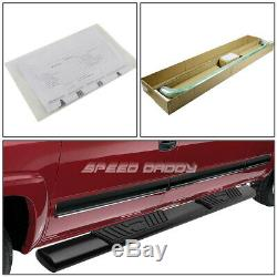 For 04-08 Ford F150 Ext/super Cab 5 Black Oval Side Step Nerf Bar Running Board