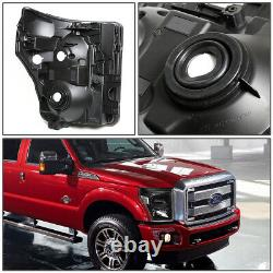 For 11-16 Ford F250 F350 Super Duty Black Housing Clear Corner Headlight Lamps