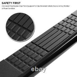 For 1997-2003 Ford F150 F250 Super Cab 4 Black Side Step Nerf Bar Running Board