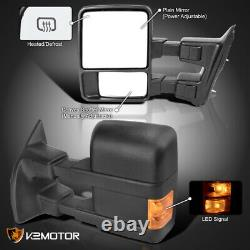 For 1999-2016 Ford F250 F350 Super Duty Power+Heated+Signal Tow Mirrors Pair