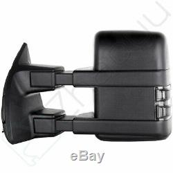 For 2008-16 Ford F450 Super Duty Side Towing Mirrors Power Heated Smoke Signal