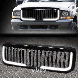 For 99-04 Ford F250 F350 Super Duty Badgeless Style Led Bar Front Bumper Grille