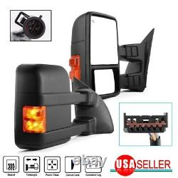 For 99-07 Ford F250-F550 Super Duty Towing Mirror Pair Power Heated Amber Signal